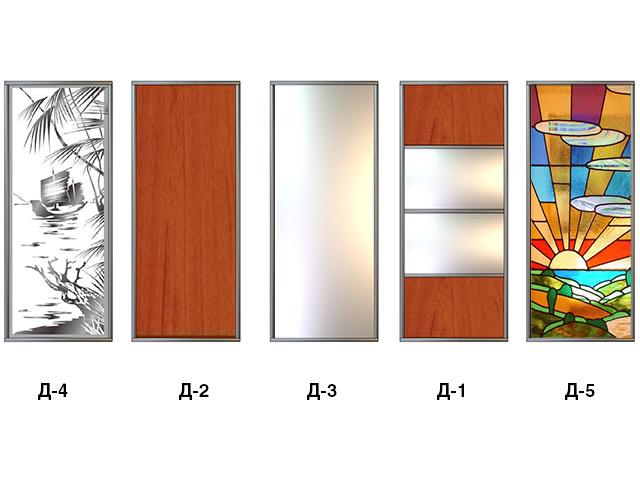 Варианты дизайна дверей шкафа-купе